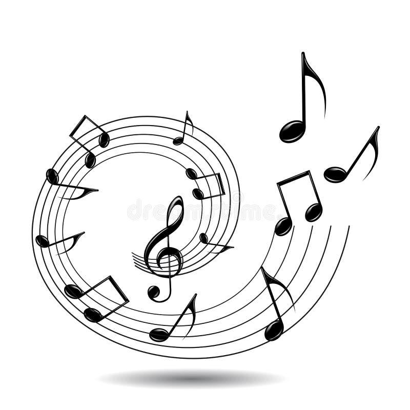 Musical theme stock illustration