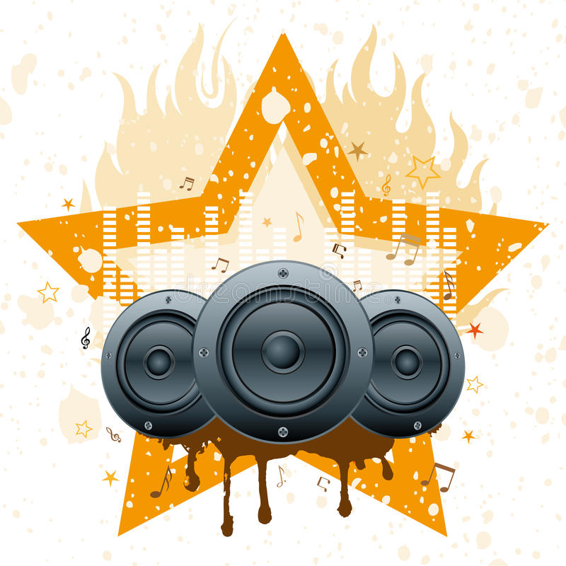 Musical Theme Illustration Stock Photo
