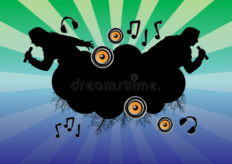 Musical_themes_02 Royalty Free Stock Photography
