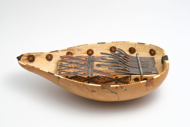Musical tradicional africano adentro imagen de archivo