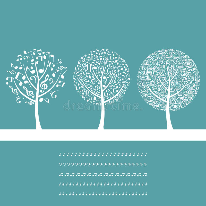 Musical tree8 vector illustration