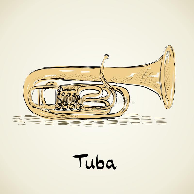 Download Musical tuba stock vector. Image of instrument, song - 41403296