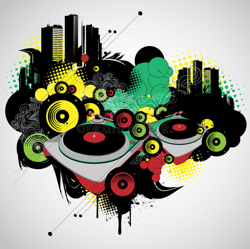 Download Musical and urban stock vector. Illustration of audio - 23442693