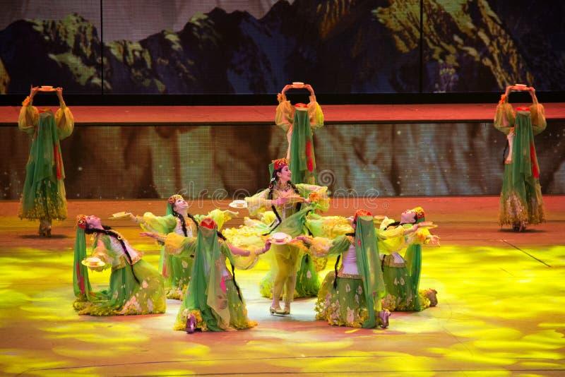 Musical, Uygur, de nouveau à la route en soie photos stock