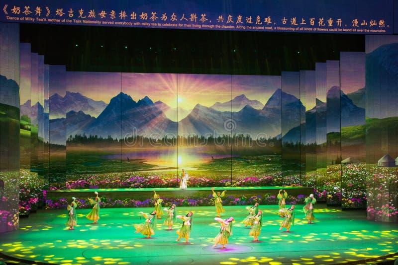 Musical, Uygur, de nouveau à la route en soie photos libres de droits