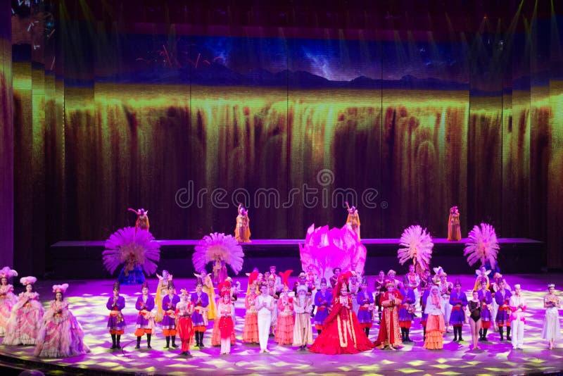 Musical, Uygur, de volta à Rota da Seda imagens de stock
