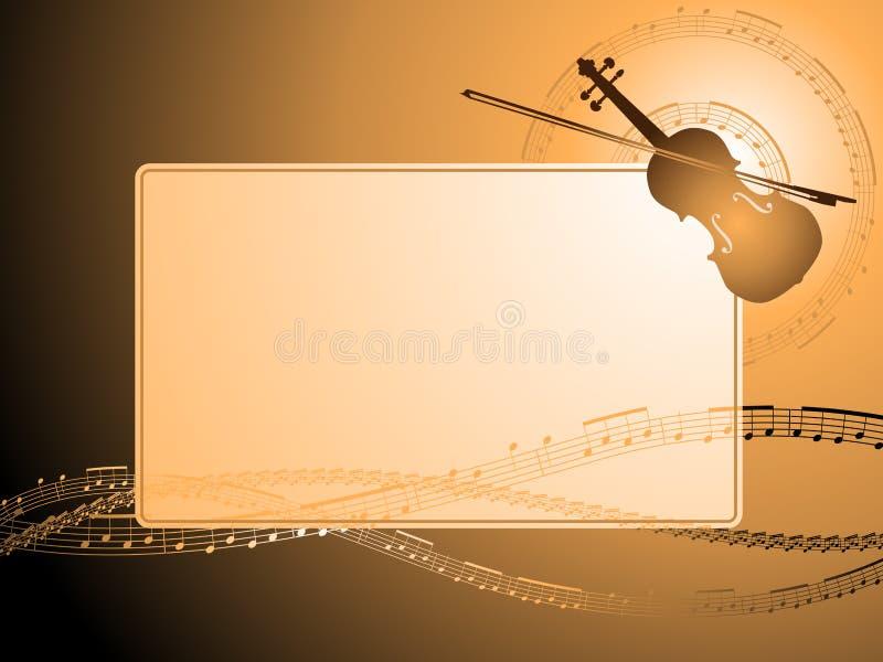 Musical violin frame stock illustration