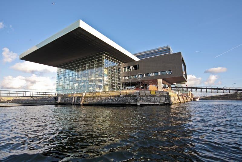 Musicbuilding in Amsterdam harbor in the Netherlan stock image