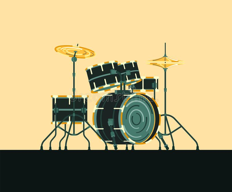 Musicial instrument Drums royalty free illustration