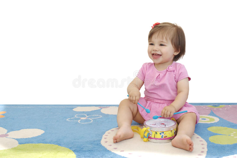 Musician Baby Girl royalty free stock images