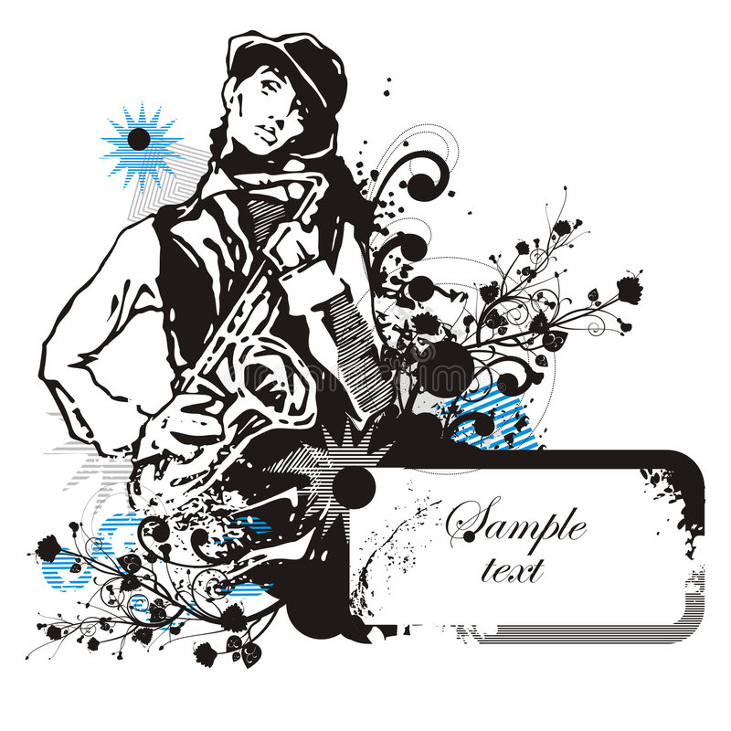Musician background series royalty free illustration