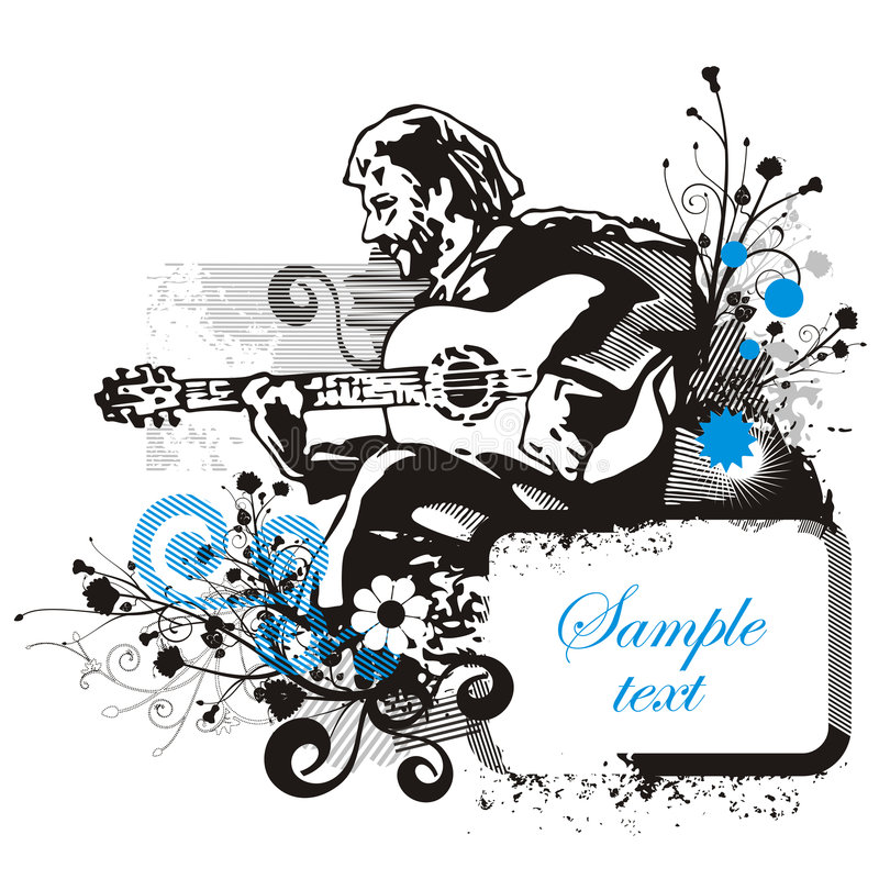 Musician background series vector illustration