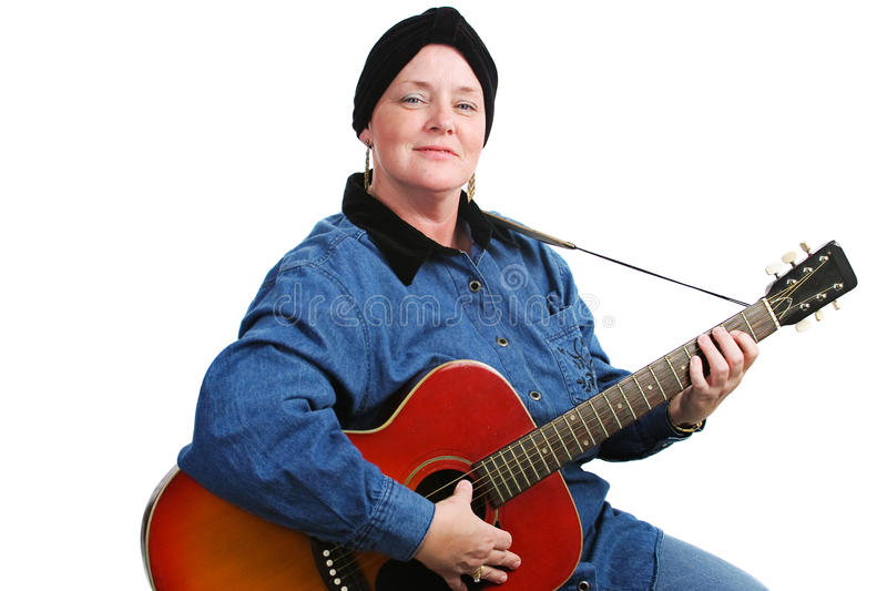 Musician and Cancer Survivor stock photos