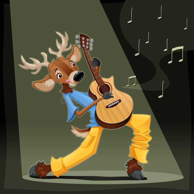 Download Musician Deer. stock vector. Image of note, guitar, vector - 29028897