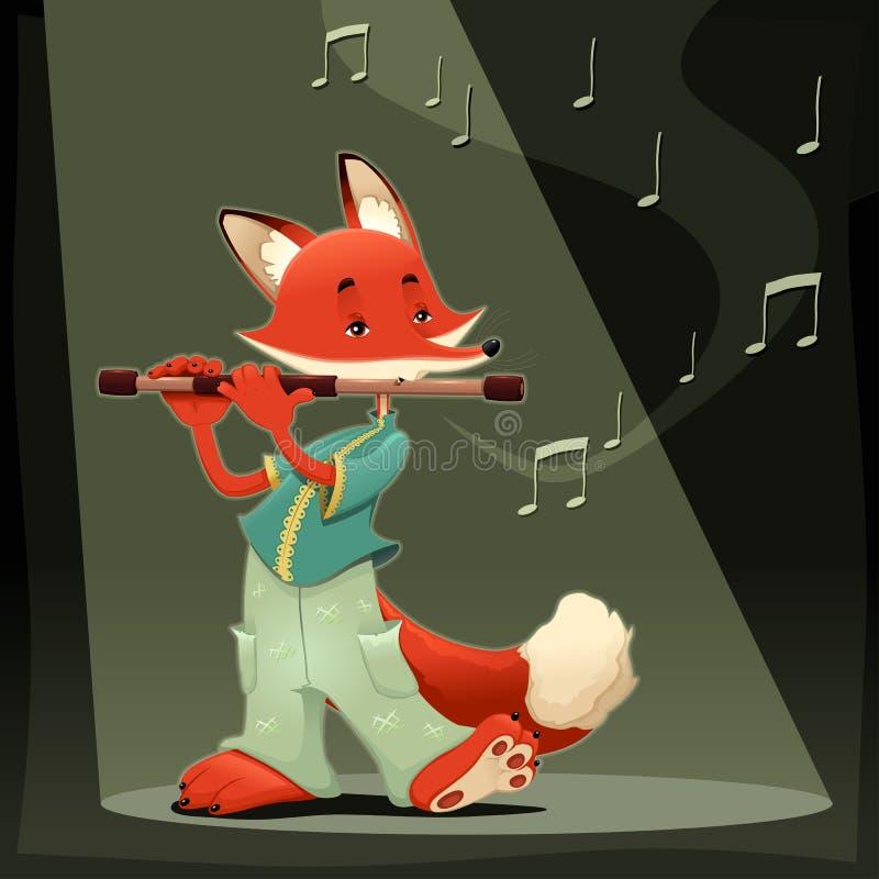 Download Musician Fox. stock vector. Illustration of flute, fairy - 29028320