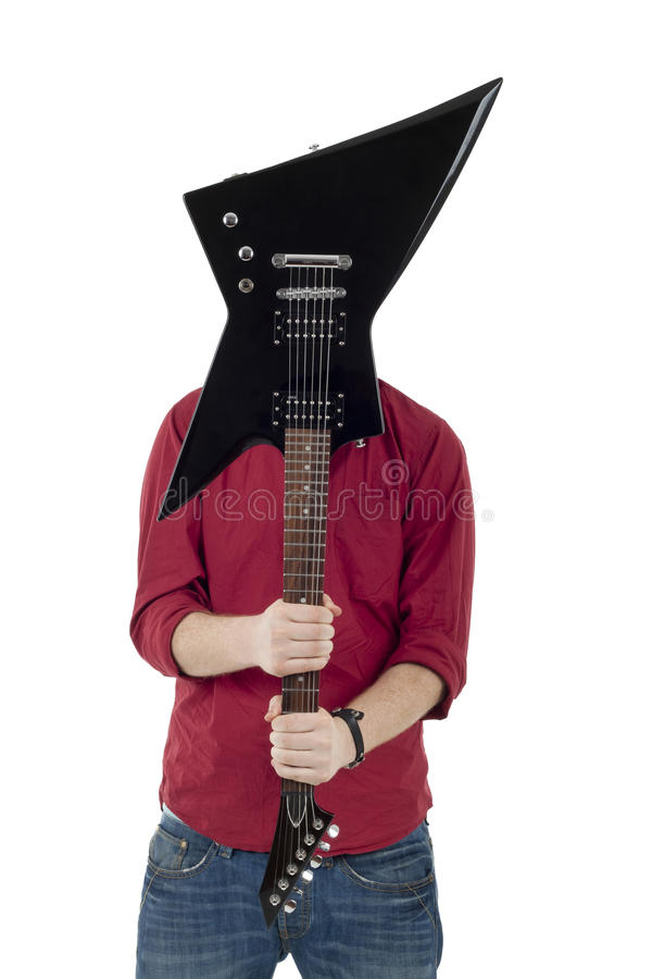 Download Musician With Guitar In Front Stock Photo - Image: 17755012