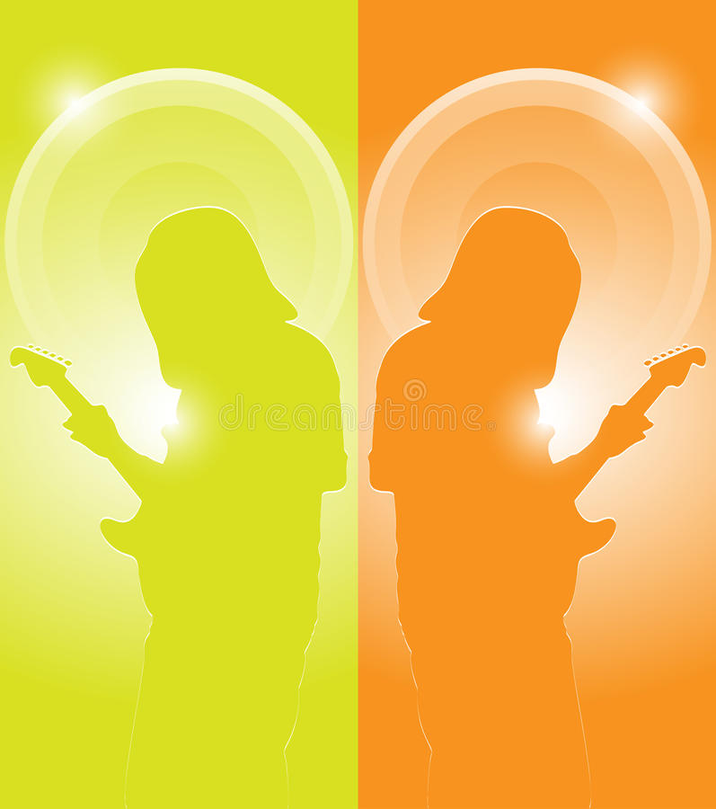 Download Musician with guitar stock illustration. Image of entertain - 34856361