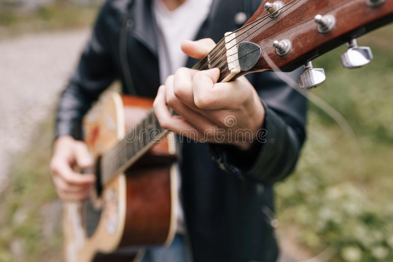 Musician guitar player artist performer stock photo