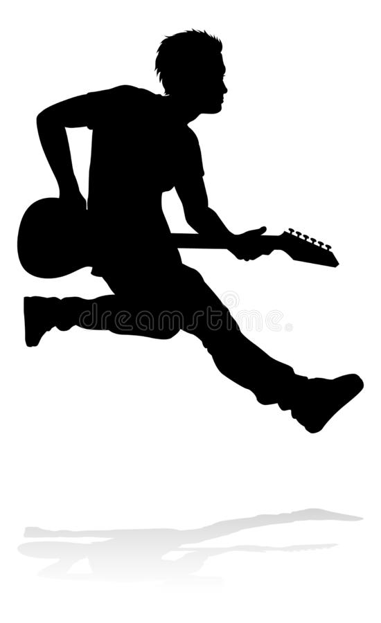Free Musician Guitarist Silhouette Stock Photography - 151388822