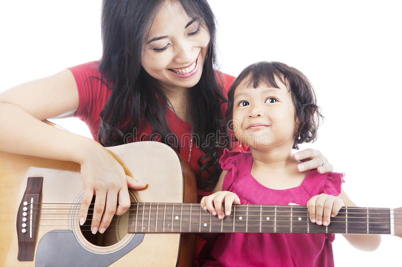 Musician with her daughter