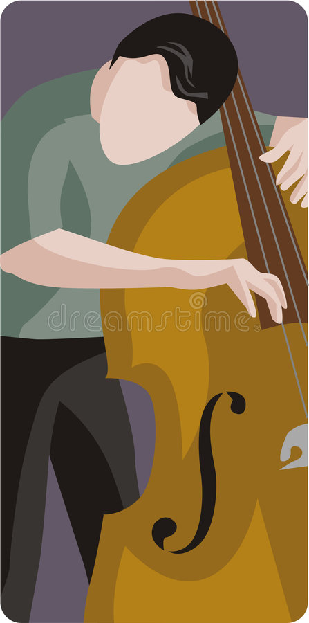Musician illustration series stock illustration