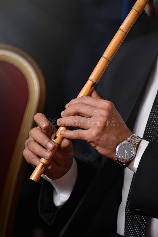 Download Musician Performing With Arabic Ney Stock Photo - Image of instrument, arabic: 89810580