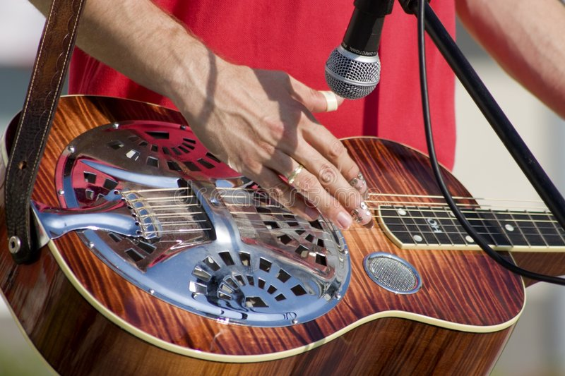 Musician by play royalty free stock image