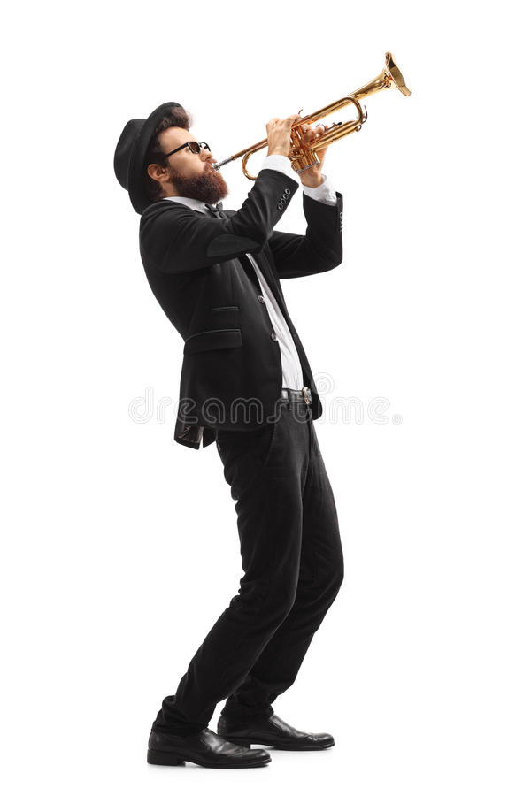 Free Musician Playing A Trumpet Stock Images - 96392414