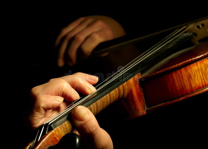 Musician playing violin stock images