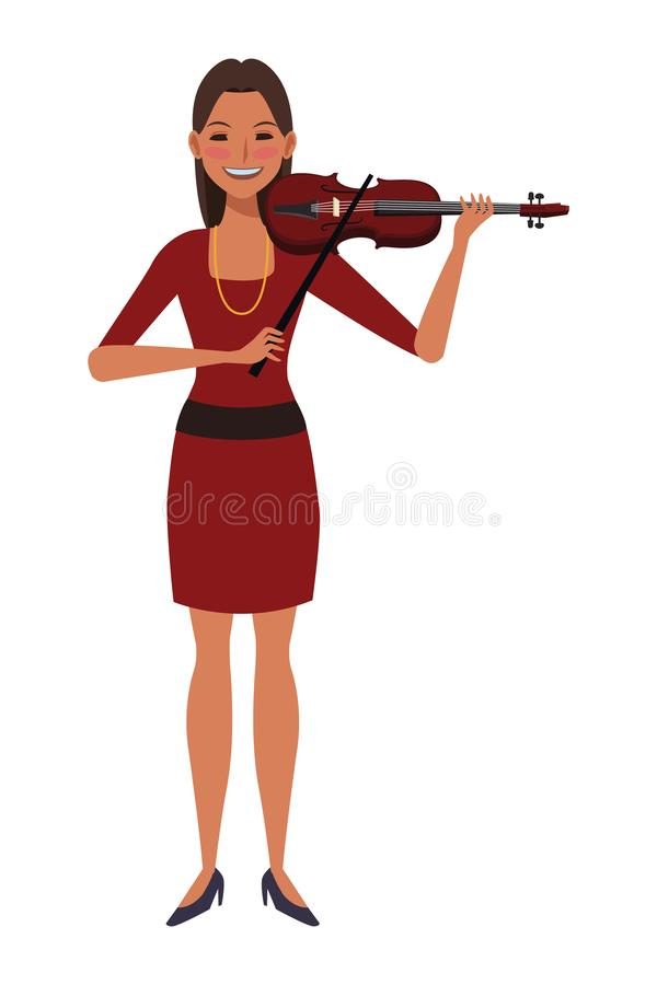 Musician playing violin royalty free illustration