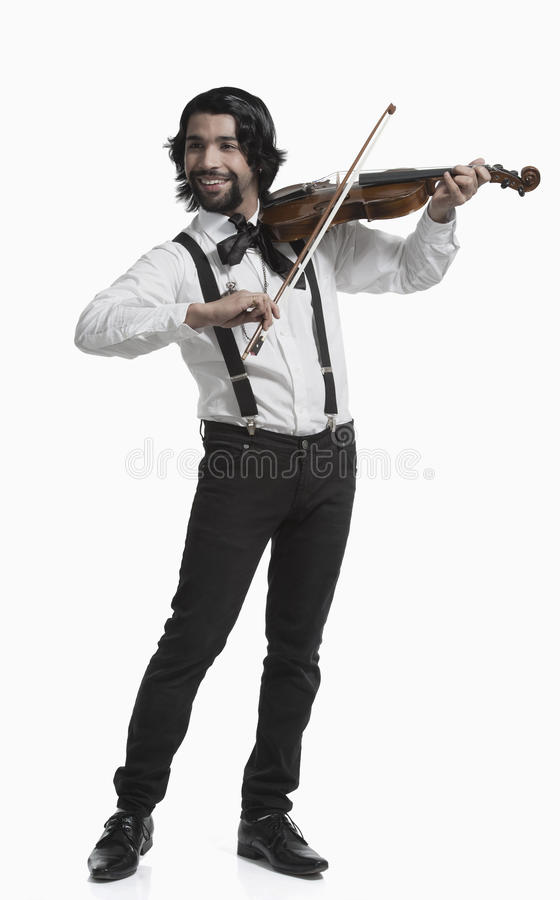 Musician playing a violin stock photography