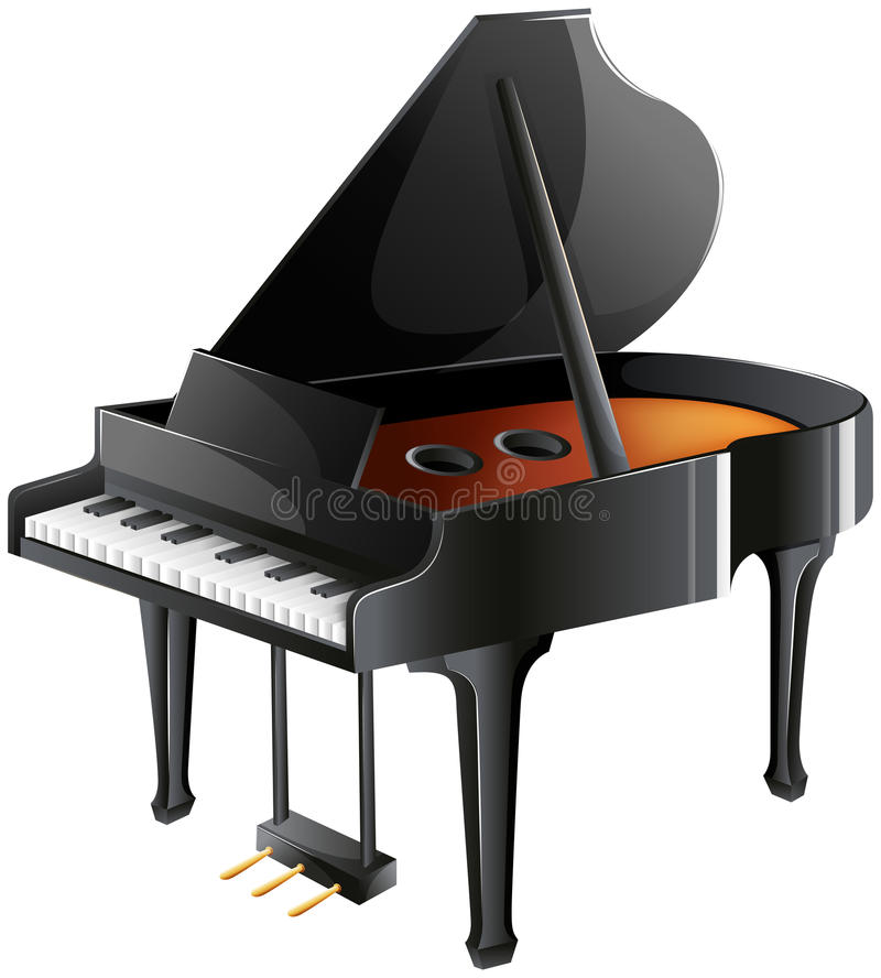 A musician's piano vector illustration