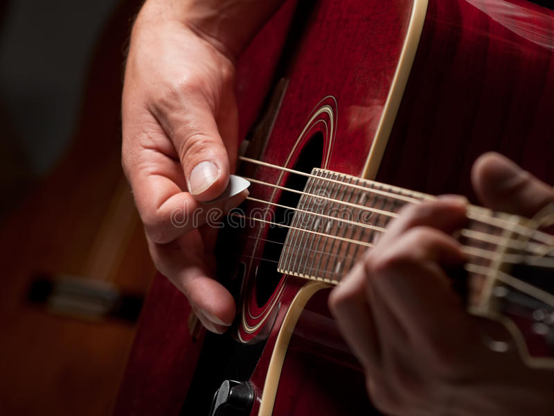 Musician In The Studio Royalty Free Stock Photos