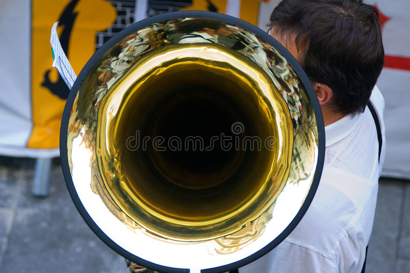 Musician trombone royalty free stock images