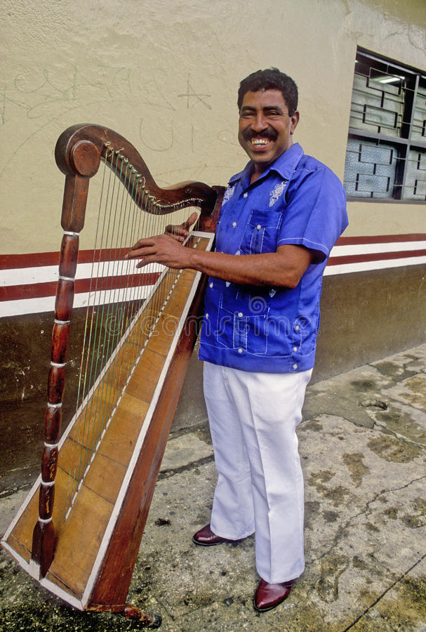 Download Musician From Veracruz With Harp Editorial Photo - Image: 26815311