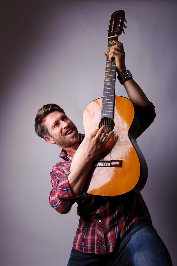 Free Musician With Classic Guitar Stock Photos - 25450513