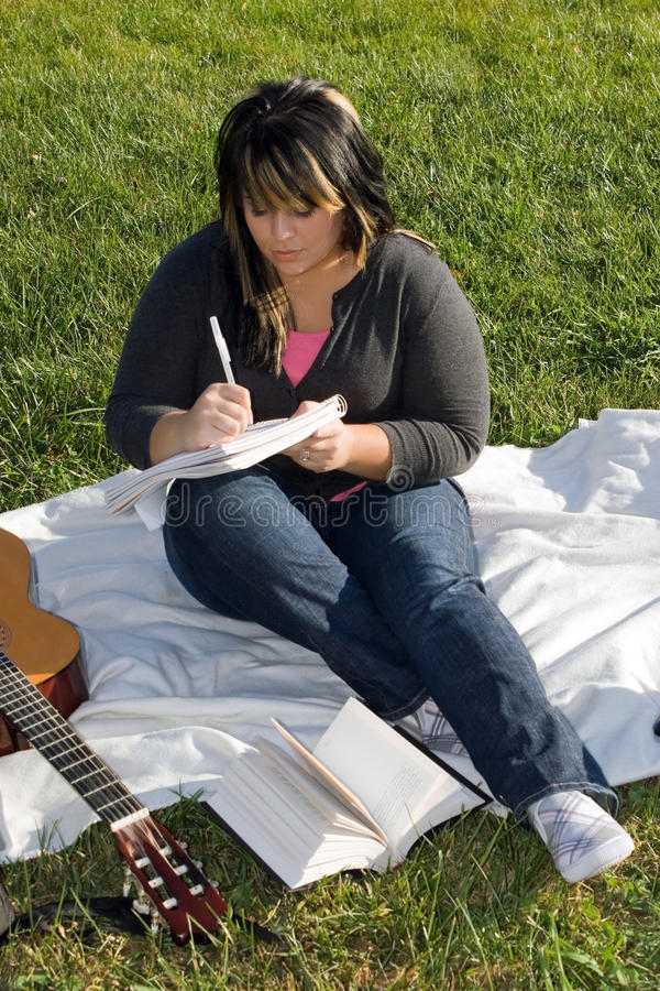 Download Musician Writing a Song stock image. Image of portrait - 10435395