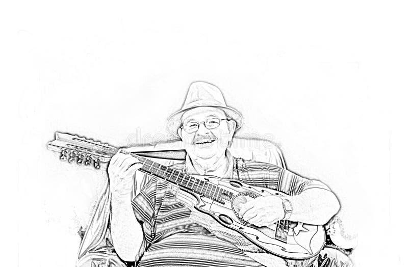 Download Musician Yomo Toro Drawing Stock Photography - Image: 15364052