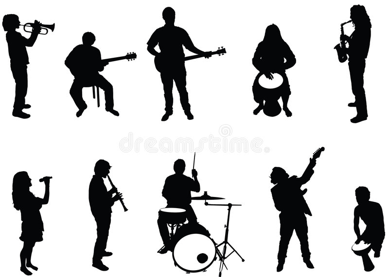 Musicians vector illustration