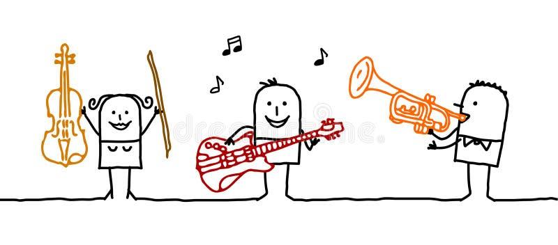 musicians royalty free illustration