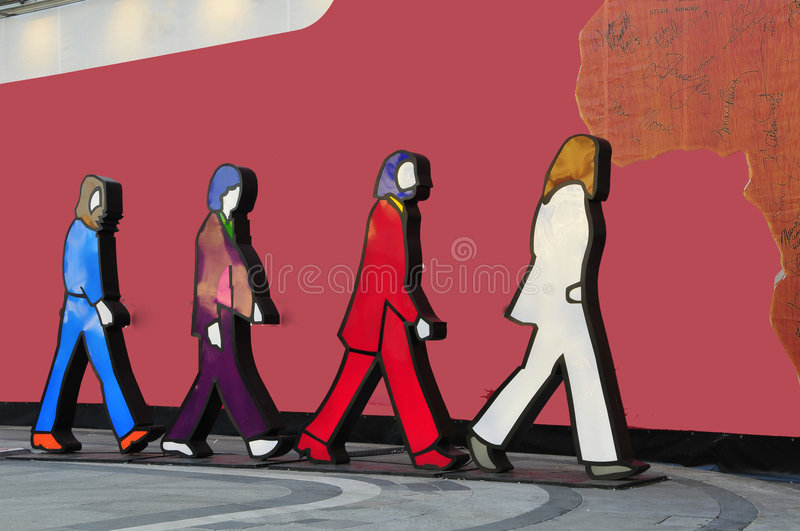 The Beatles stock image