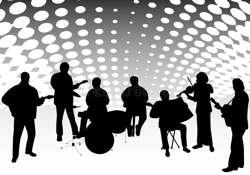Download Musicians stock vector. Image of background, circle, classic - 8601824