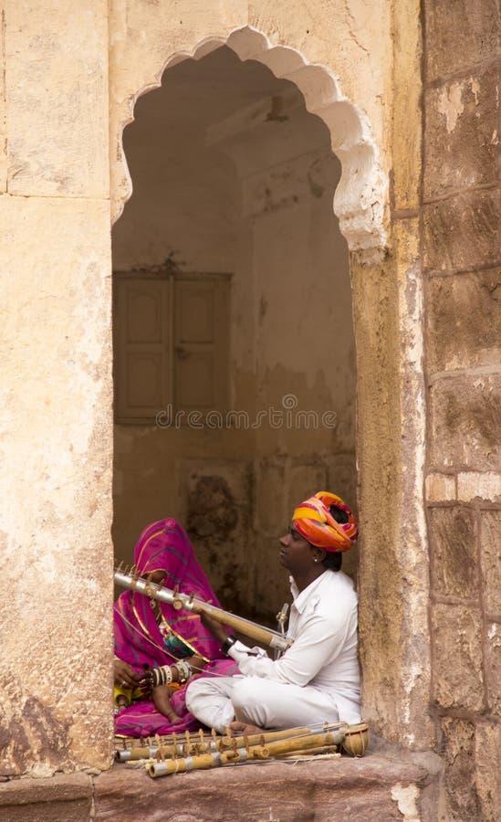 Free Musicians At Mehrangarh Fort, Jodhpur, Rajasthan, India Royalty Free Stock Images - 99079559