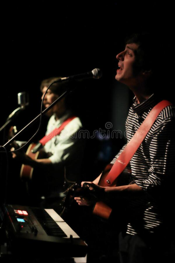 Musicians onstage royalty free stock photo
