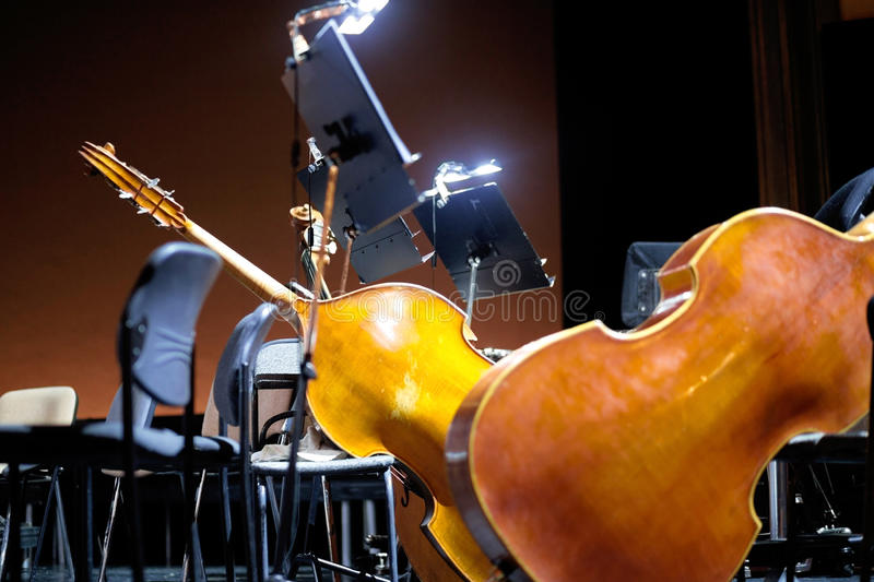 Before the musicians performance scene royalty free stock photography