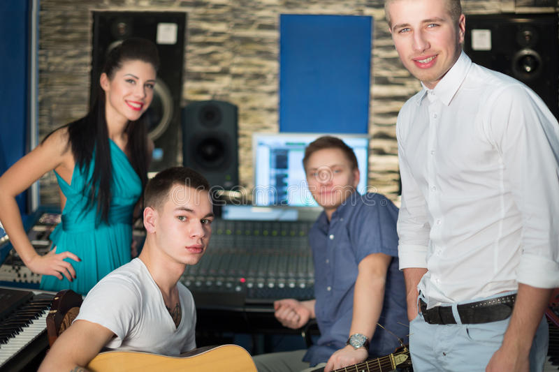 Download Musicians In The Recording Studio With Equipment Stock Photo - Image: 34070878