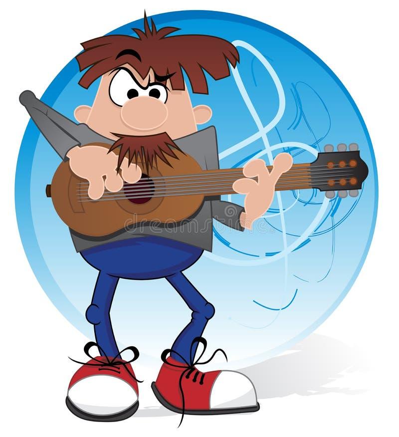 Musicien avec la guitare illustration libre de droits