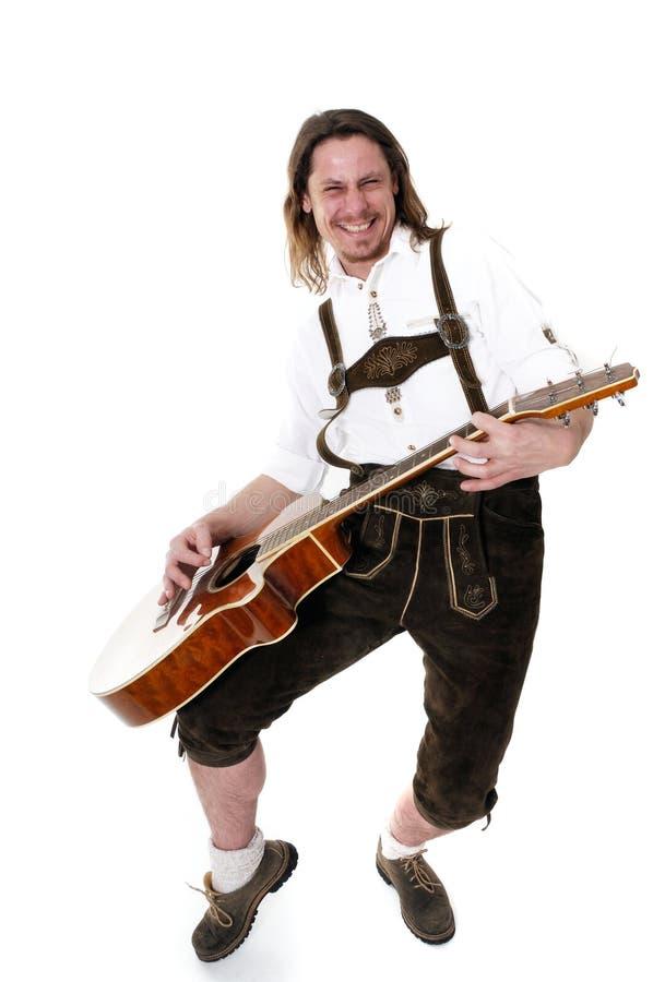 Musicien bavarois image libre de droits