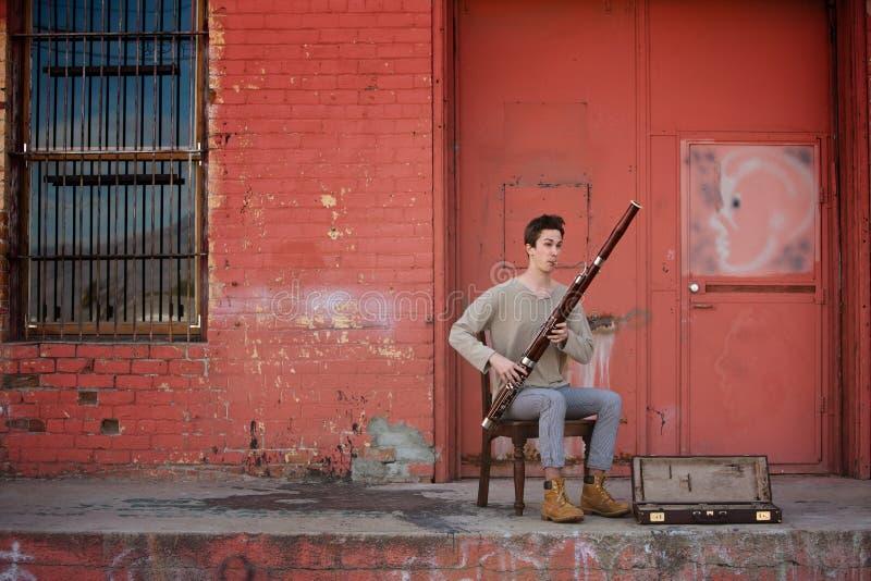Musicien de Bassoon photographie stock