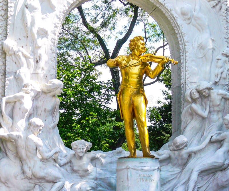 Musicien de Johannes Strauss à Vienne, Autriche images libres de droits